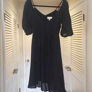 Moulinette Soeurs off the shoulder black dress